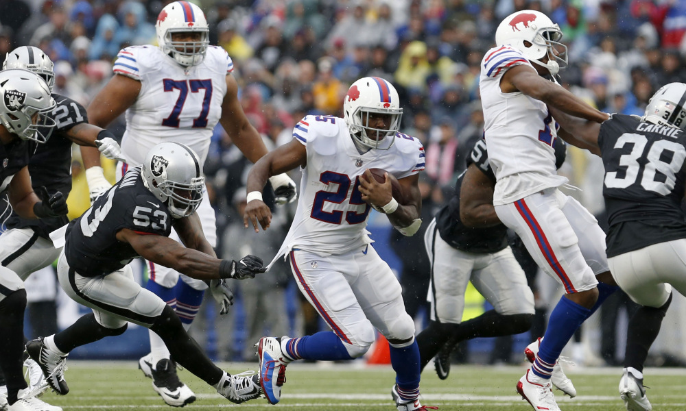 McCoy Scored Late for Bills to push game OVER.