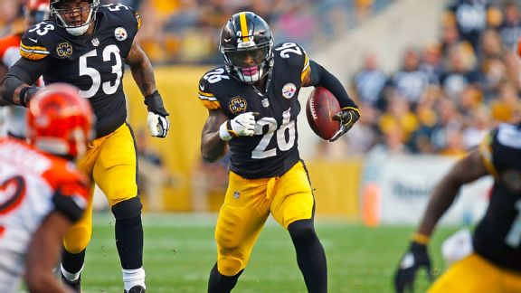 Pittsburgh's Le'Veon Bell leads the NFL in rushing.