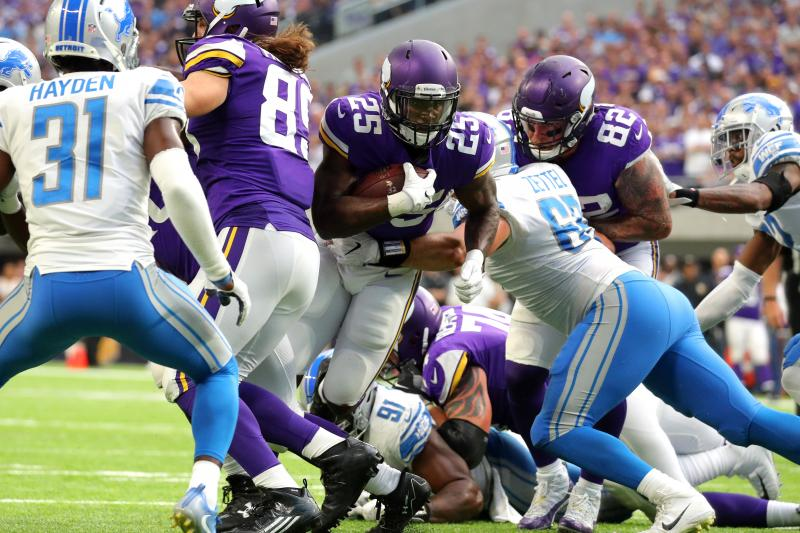 Minnesota looks to run over the Lions defense