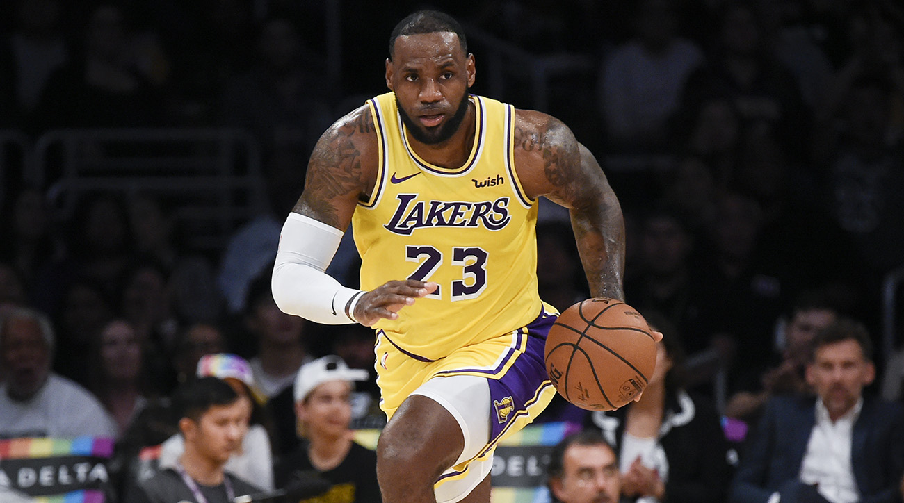Lebron James with Lakers