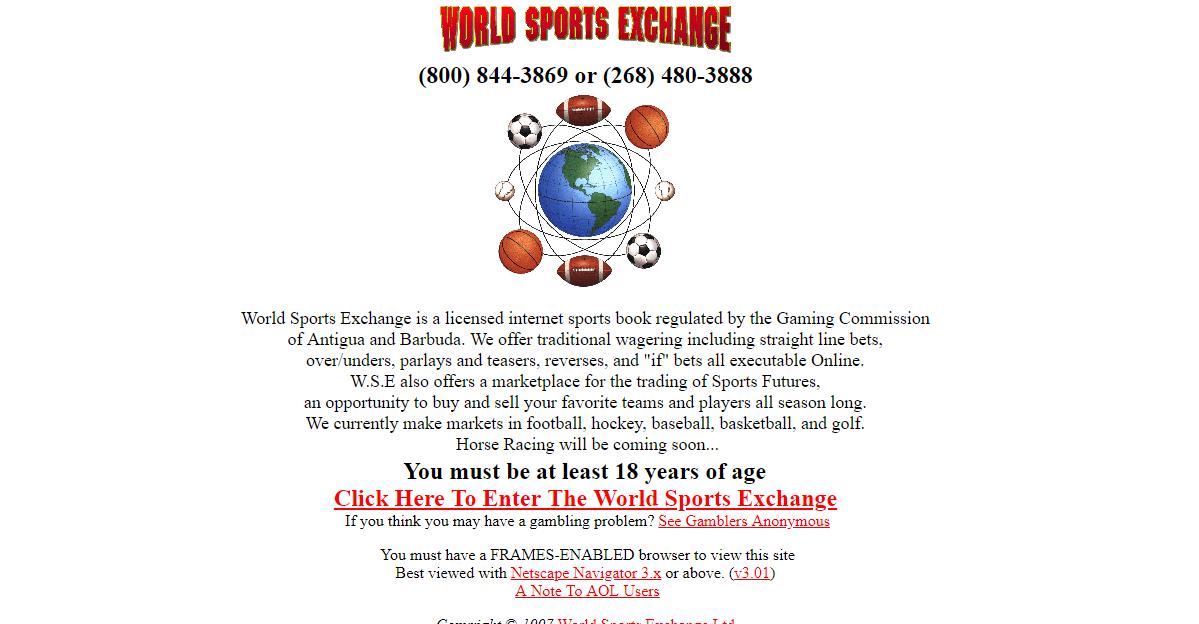 WSEX sportsbook in 1997