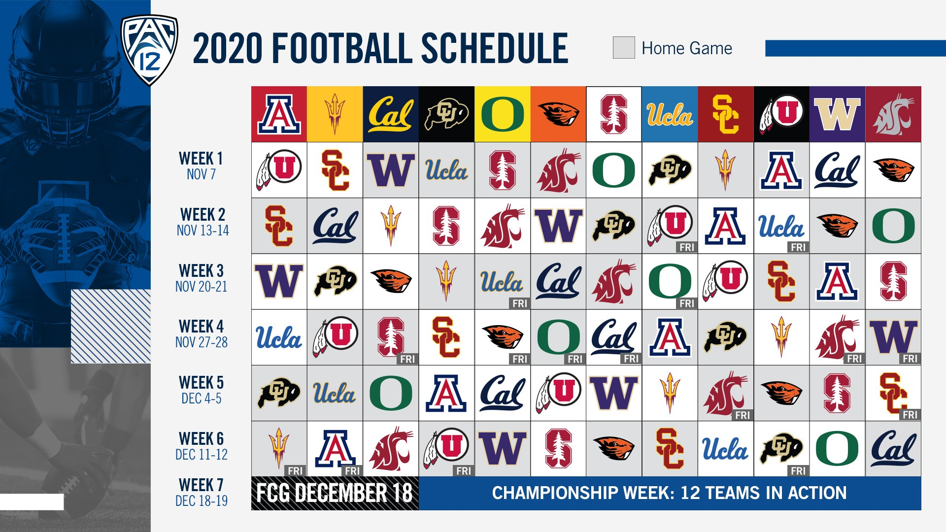 Pac-12 football schedule