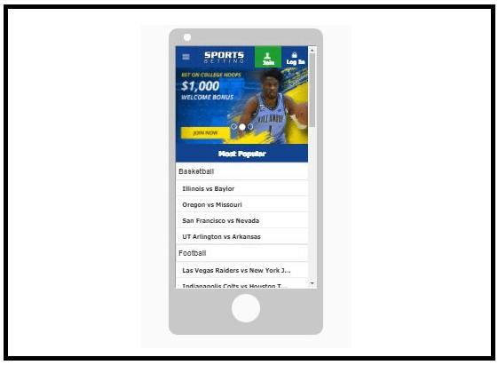 Mobile live betting platform