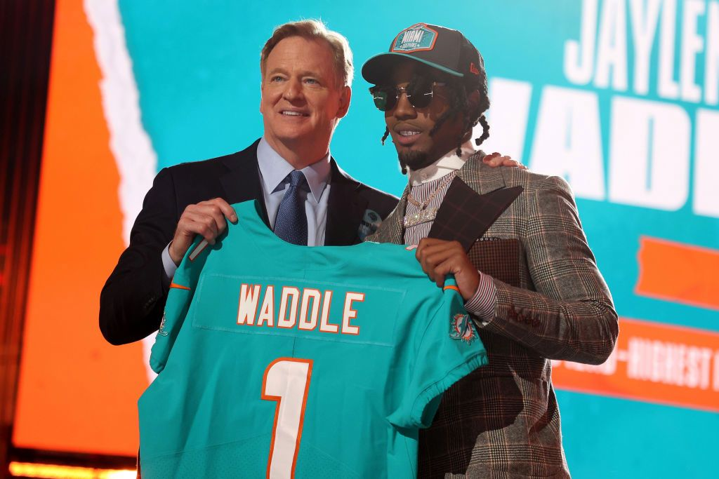 Waddle drafted by Miami grade